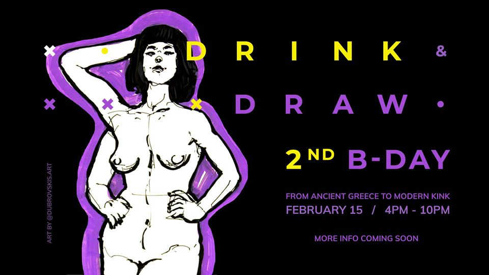 Drink&Draw 2nd Birthday sketching session