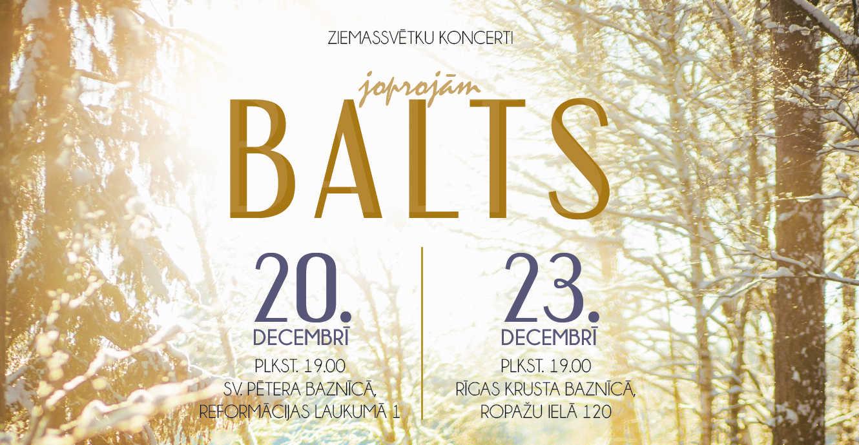 """Ziemassvētku koncerts """"Joprojām balts"""" Sv. Pētera baznīcā"""